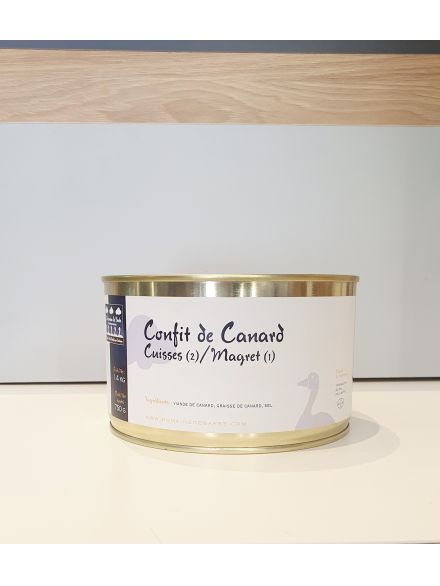 Confit De Canard, 2 Cuisses&1Maigret, 1.4 Kg