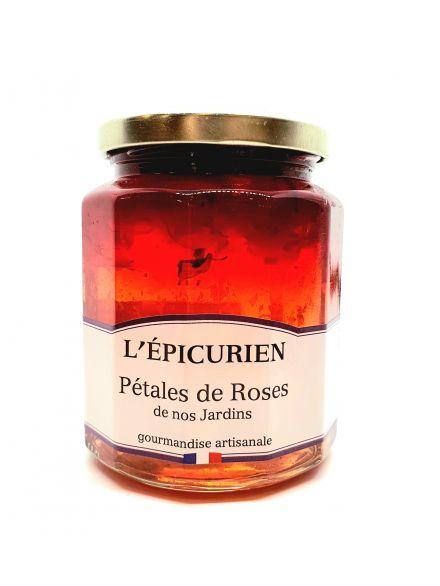 Confiture pétales de roses de nos jardins, 330gr -l'épicurien-