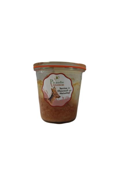 Terrine de chevreuil aux noisettes 200 gr
