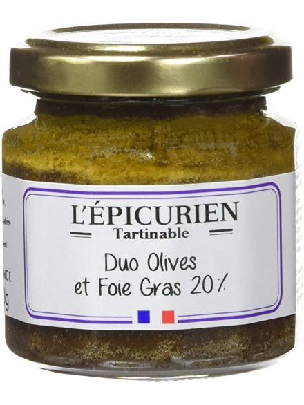 Olive en fête  (Olive, bloc de foie gras),100gr -L'épicurien-