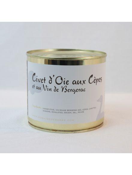 Civet D'Oie Aux Cepes Et Au Vin De Bergerac 600G