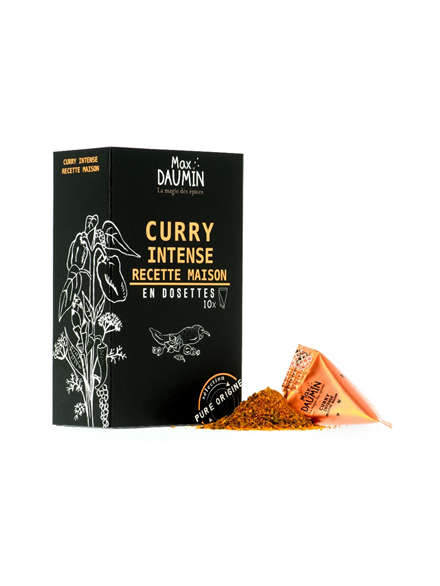 Curry intense recette maison en dosettes x 10