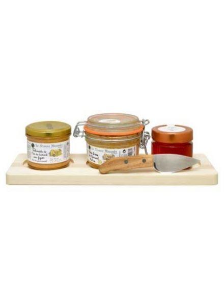 Planche foie gras et le couteau
